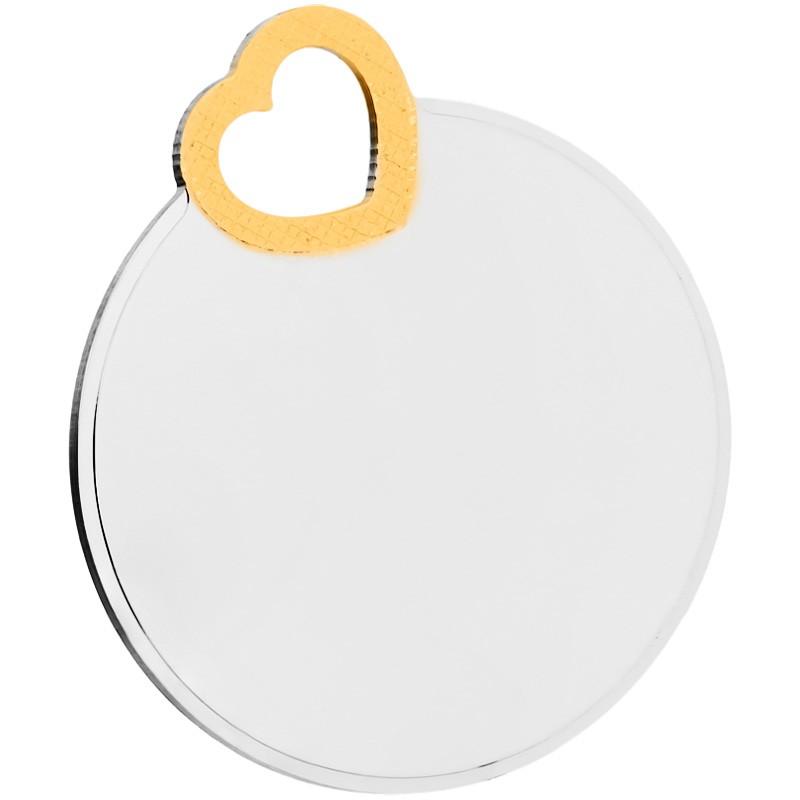 Gravurplatte 925/- Sterling Silber, vergoldet