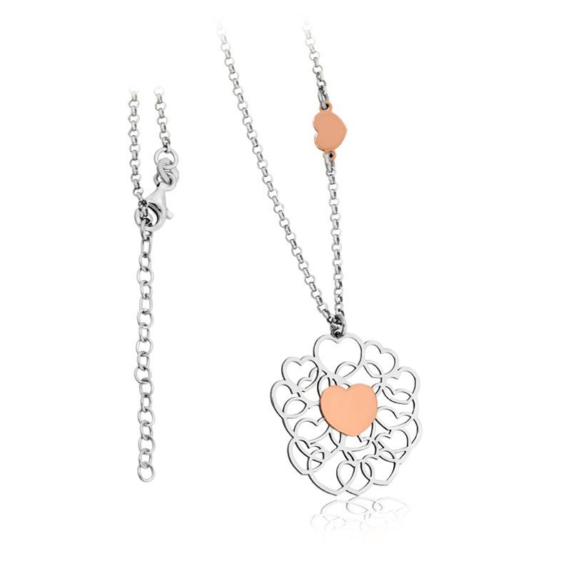 Tiamo Collierkette 925/- rhodiniert, rosévergoldet