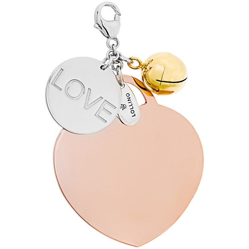 Klang der Liebe-Kette für Schwangere, 925er Sterling Silber rhodiniert/18kt rosé vergoldet