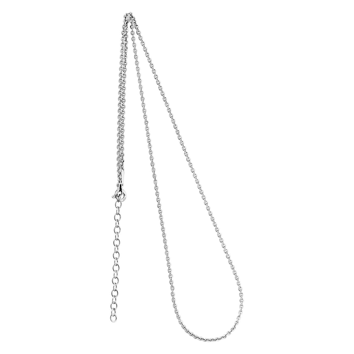 Collierkette Spiegelanker 925/- rhodiniert