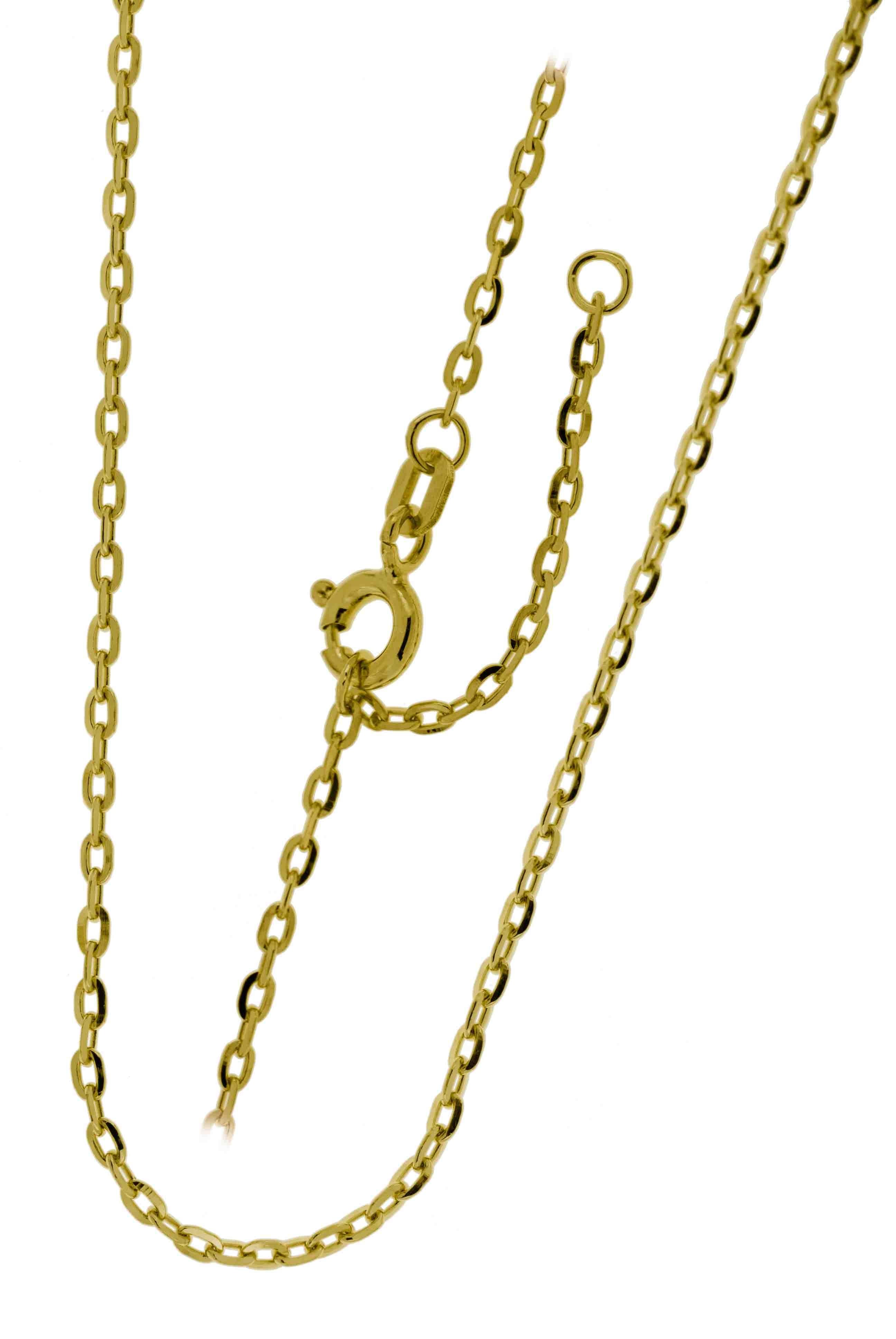 Collierkette Spiegelanker 925/- rhodiniert, vergoldet