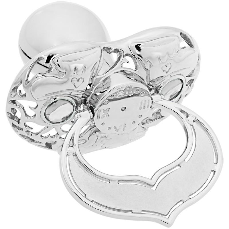 Lollino Klassik, Schatzkiste Motiv Babyschuhe strahlender Kristall weiß