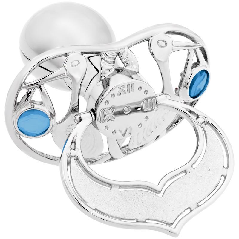 Lollino Klassik, Schatzkiste Motiv Storch, strahlender Kristall blau