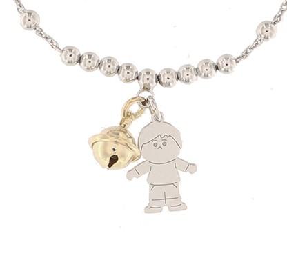 Klang der Liebe, Taufschmuck, Kinderschmuck, Armband für Kind, 925er Sterling Silber rhodiniert