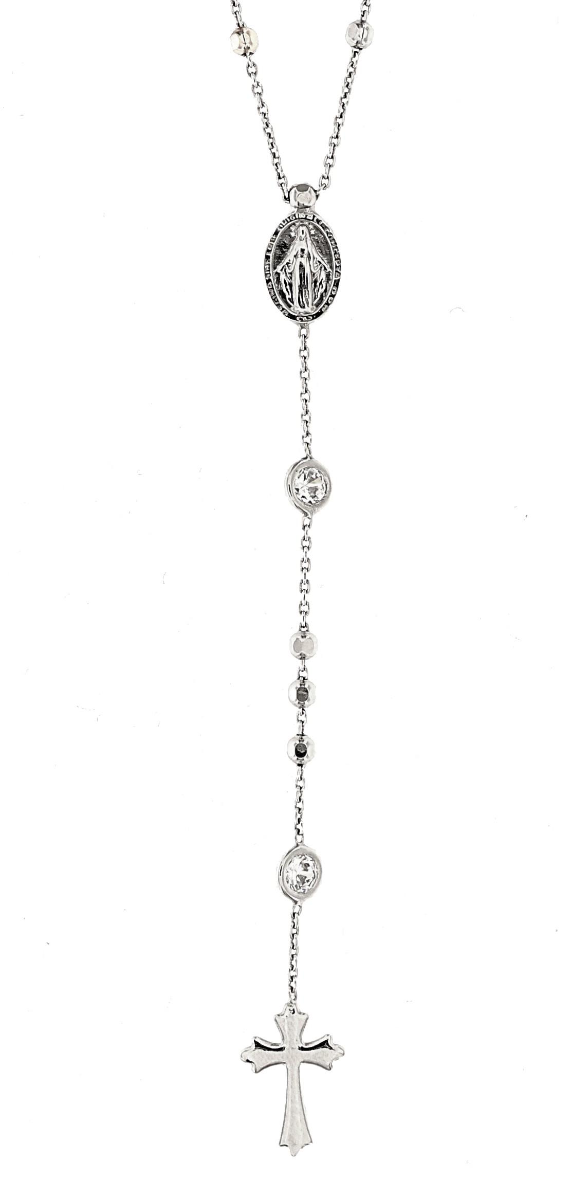 Rosenkranz Madonna, 925er Sterling Silber rhodiniert
