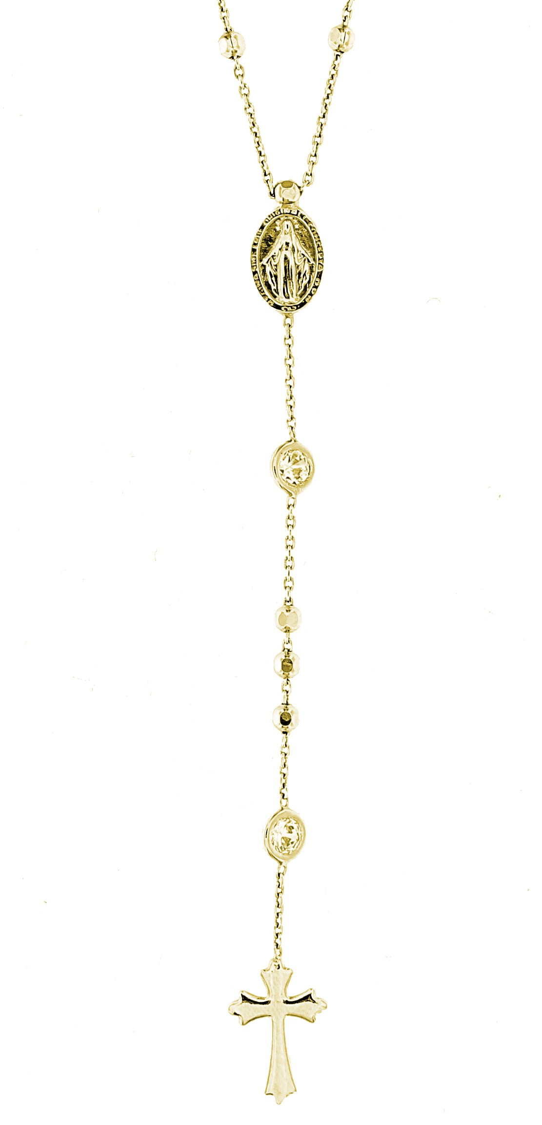 Rosenkranz Madonna, 925er Sterling 18kt vergoldet