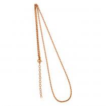 Collierkette Spiegelanker 925/- rhodiniert, rosévergoldet
