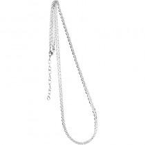 Collierkette zweireihig Spiegelanker 925/- rhodiniert