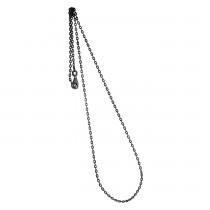 Collierkette Spiegelanker 925/- rhodiniert, schwarz
