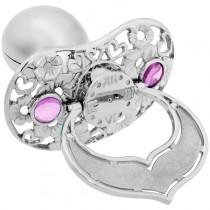 Lollino Klassik, Schatzkiste Motiv Herzen & Blumen strahlender Kristall rosa