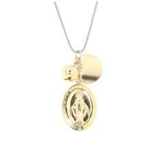 Klang der Liebe-Kette für Schwangere, 925er Sterling Silber rhodiniert/18kt vergoldet
