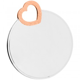 Gravurplatte 925/- Sterling Silber, rosévergoldet