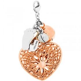 Klang der Liebe Anhänger, 925er Sterling Silber 18kt Rose vergoldet