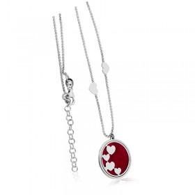 Tiamo Collierkette 925/- rhodiniert, Emaille