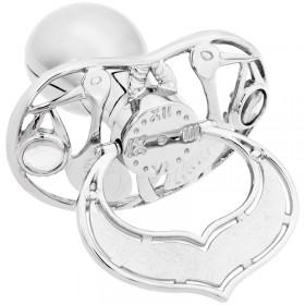 Lollino Klassik, Schatzkiste Motiv Storch, strahlender Kristall weiß