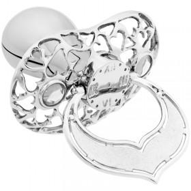 Lollino Klassik, Schatzkiste Motiv Herzen, strahlender Kristall weiß