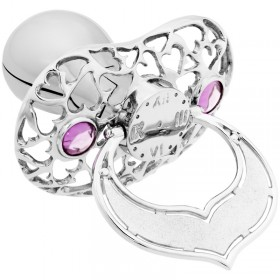 Lollino Klassik, Schatzkiste Motiv Herzen, strahlender Kristall rosa