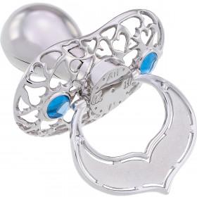 Lollino Klassik, Schatzkiste Motiv Herzen, strahlender Kristall blau