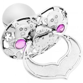 Lollino Klassik, Schatzkiste Motiv Teddy strahlender Kristall rosa