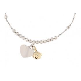 Klang der Liebe, Armband für Mama mit Gravur, 925er Sterling Silber rhodiniert